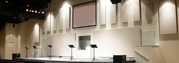 solução acústica para igrejas